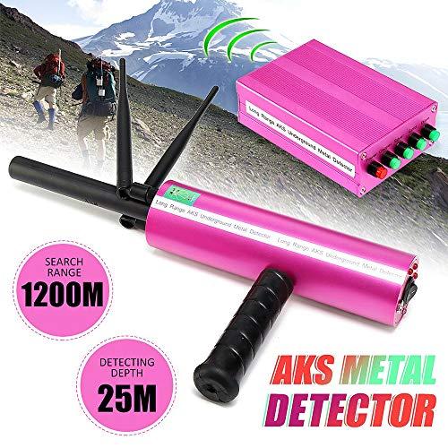 Adults Metal Detector AKS Detective Professtional Underground Handhold 3D Pro Metal/Gold/Gems Detector Adjustable Long Range Diamond Finder Tracker
