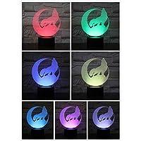 3D LED錯視ランプ オオカミランプタッチセンサー子供キッズベビーギフト常夜灯家の装飾ノベルティ照明ナイトライトキットガジェット