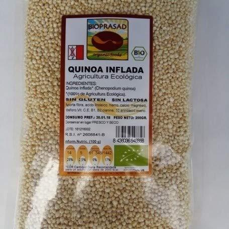 Bioprasad - Quinoa Inflada Bio 100 Gramos - Sin Gluten Sin L