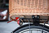 Tigana – Hundefahrradkorb für Gepäckträger aus Weide 60 x 39 cm mit Metallgitter + Kissen Tierkorb Hinterradkorb Hundekorb für Fahrrad – SCHWARZ - 5