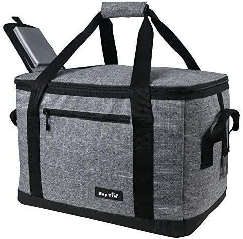 Hap Tim Soft Cooler Bag 40-Can Large Reusable Grocery Bags Soft Sided Collapsible Travel Cooler for Outdoor Travel Hi...