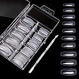 Fake Nails, 120 PCS Clear Nail Tips Coffin Ballerina Acrylic False Nails in