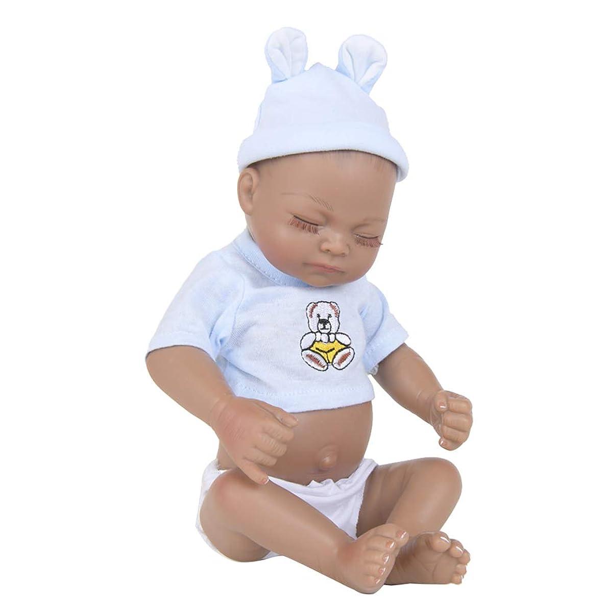 と遊ぶ生き物遠いTachiuwa 手作りのシリコーンリボーンドールリボーン幼児ベビードールアフリカのベビードール