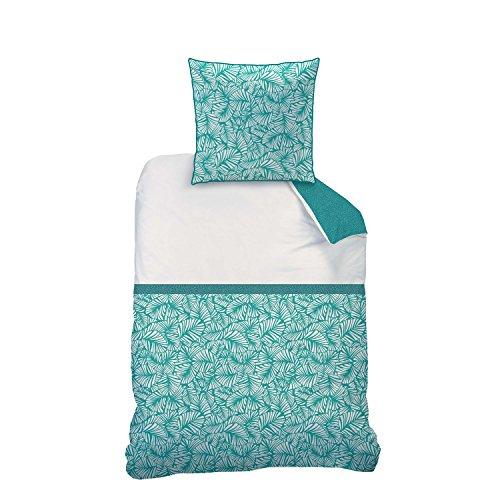 Matt&Rose Tendance Oasis Parure de lit en Coton Vert 135 x 200 cm