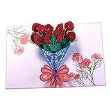 3D Carte De Voeux Pop-Up Thanksgiving Carte De Voeux De NoëL 3D Carte De Voeux Anniversaire Voeux Carte 3D Bouquet (2Pcs) 15 * 20Cm