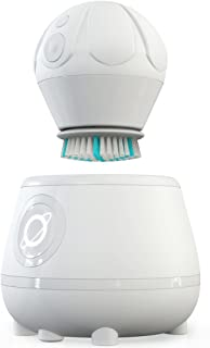 TAO Clean Orbital Facial Brush and Cleansing Station – Super Nova White – Electric Face Cleansing Brush with Patented Docking Technology, Ergonomic Handle, Dual Speed Settings