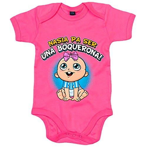 Body bebé nacida para ser una Boquerona Málaga fútbol - Rosa, 12-18 meses