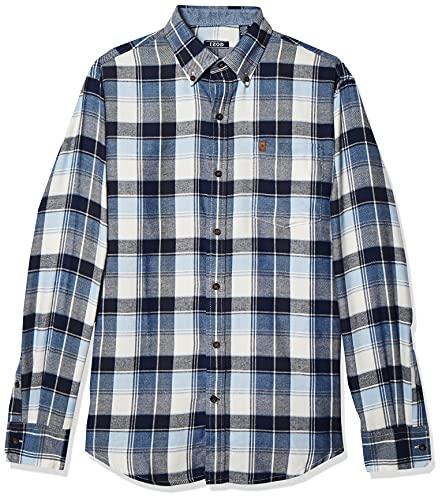 IZOD Men's Advantage Performance Flannel Long Sleeve Stretch Button Down Shirt,...
