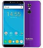 OUKITEL C8 4G - 5,5 Pulgadas (18: 9 relación visión Completa) Android 7.0 4G Smartphone, 3000mAh batería, 1,3 GHz Quad Core MTK6737 2GB+16GB, cámara de 5MP + 13MP, Huella Digital - Púrpura