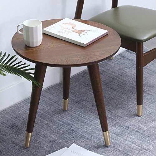 Tafel eettafel, eikenhout, 3-poten, nachtkastje koffietafel decoratief accent nachtkastje geschikt voor elke ruimte CJC