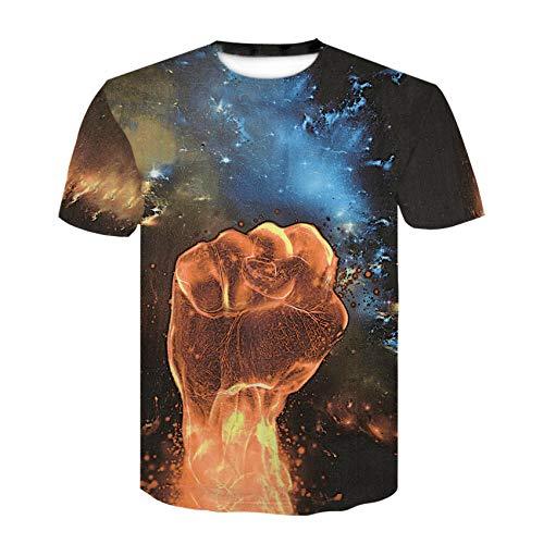 T-fashion shop Unisex 28D Printed T-Shirt,3D Technology Digital Print Round Neck T-Shirt Summer Trend Short Sleeve-4_XXXL