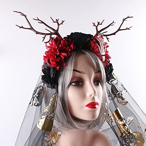 TIWA Europäisches Und Amerikanisches Süßes Handgemachtes Haarschmuck, Waldzweig-Stirnbänder, Geeignet Für Party Dekoration Cosplay