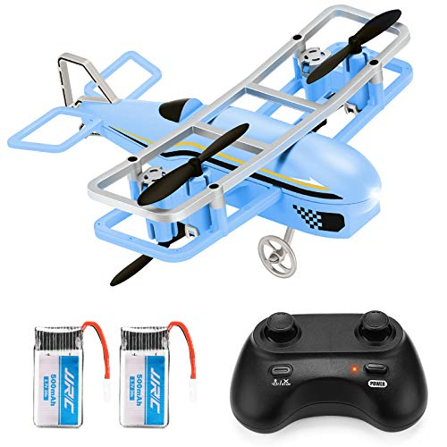 JJRC Mini Drone for Kids, RC Nano Airplane Quadcopter for Beginners with Altitude Hold, Headless Mode, 3D Flip, One Key Take Off and Landing Plane Helicopter Toy with Extra Battery (Blue)