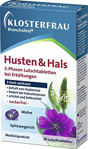 Klosterfrau Broncholind Husten und Hals 2-Phasen Lutschtabletten 20 Stück