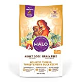 Halo Grain Free Natural Dry Dog Food - Premium and Holistic Real Whole Meat - Turkey, Turkey Liver & Duck Recipe - 14 Pound Bag - Sustainably Sourced Dry Adult Dog Food - Non-GMO & Highly Digestible