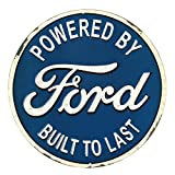 Open Road Brands Ford Built to Last Round Embossed Metal Sign