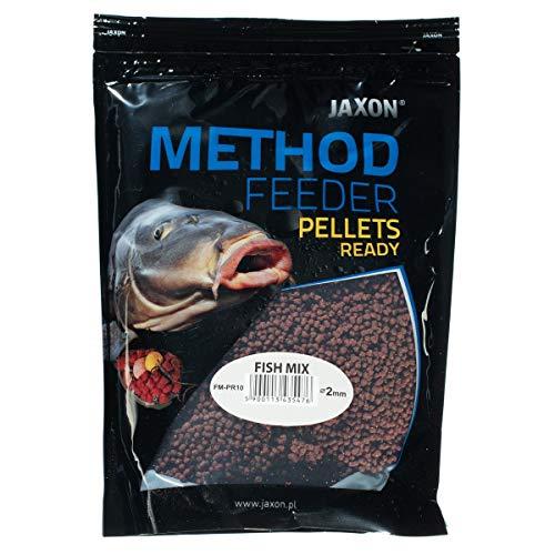 Jaxon Method Feeder Pellets Grundfutter Angelfutter Lockfutter 500g (Fisch Mix/FM-PR10)