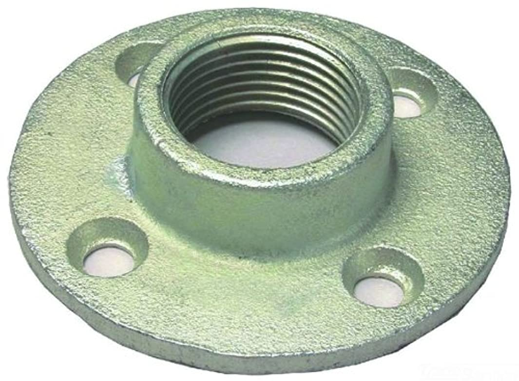 L.H. Dottie FF125 Floor Flange, Threaded End. 1-1/4-Inch, Zinc Plated, 5-Pack