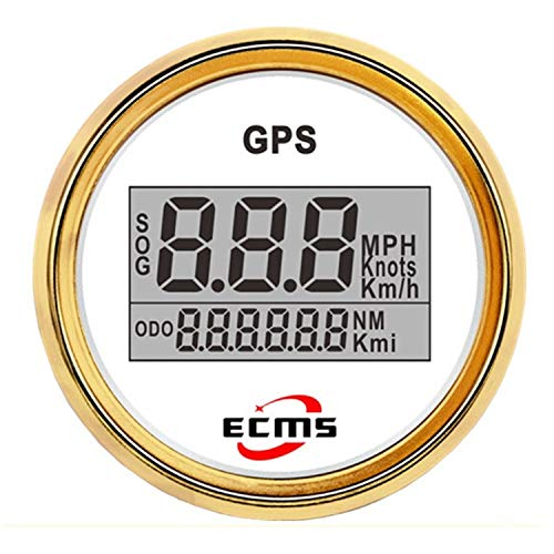 Review Car Instruments 52mm 2 Inch Digital LCD GPS Speedometer for Motorcycle/Marine Boats/Vehicle W...