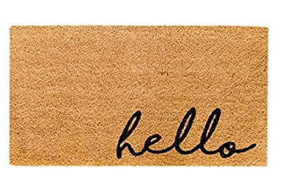 Theodore Magnus Natural Coir Doormat with Non-Slip Backing - 17 x 30 - Outdoor / Indoor - Natural - Meet and Greet - COIR-1730-15-221