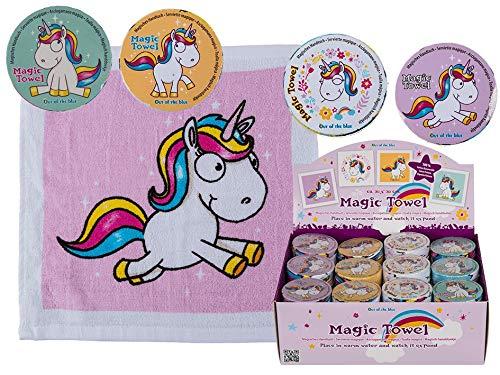 4X Magisches Handtuch Einhorn 30cm Pferd Tier Waschlappen Kinder Mitgebsel
