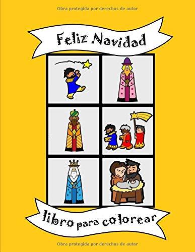 Libro para colorear: Feliz Navidad Cristianos Natividad, Reyes Magos, ángeles, religiosos, libro de actividades para bebés para niños pequeños de 2 a ... cumpleaños regalo, formas grandes simples
