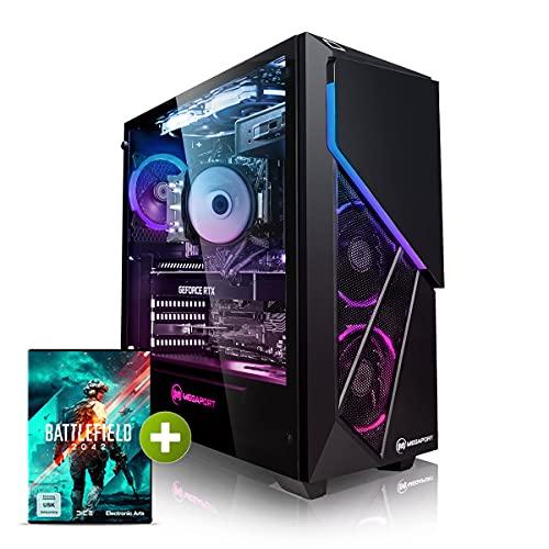Megaport PC Gamer Nightfighter I Intel Core i7-10700K 8X 3,80 GHz • GeForce RTX3070 8Go • 16Go DDR4 • 480 Go SSD • 1To HDD • Windows 10 Home • WiFi Unité Centrale Ordinateur de Bureau PC Gaming