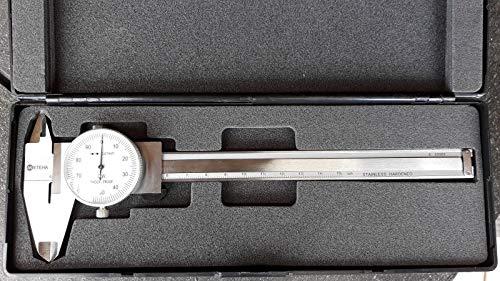 Meteha Messschieber mit Rundskala (Uhrmessschieber) 150 mm / 0,01mm