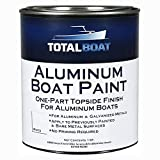 TotalBoat-511795 Aluminum Boat Paint for Canoes, Bass Boats, Dinghies, Duck Boats, Jon Boats and Pontoons (White, Quart)