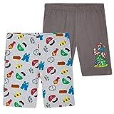 Super Mario Pantalones Cortos, Pantalon Corto Niño con Mario Bros Deporte Colegio, Merchandising Oficial Regalos para Niños y Adolescentes 4-14 Años (Gris, 4-5 Años)