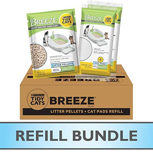 Purina Tidy Cats Multi Cat Litter Pellets & Cat Litter Pads, Breeze Refill Pellets & Pads Bundle Pack - 7.91 lb. Box