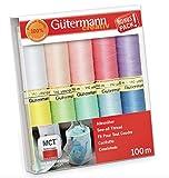 Gutermann - Juego de hilos (100 m), multicolor