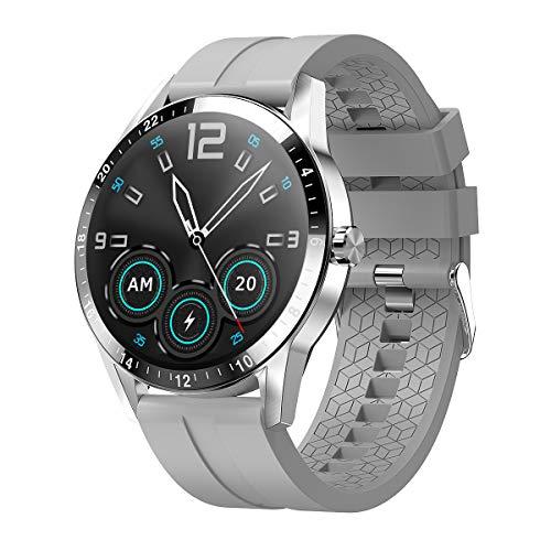 HQHOME Smartwatch Fitness Armband Uhr Voller Touch Screen Fitness Uhr IP67 Wasserdicht Fitness Tracker Sportuhr mit Schrittzähler Pulsuhren Stoppuhr für Damen Herren Smart Watch für iOS Android Handy
