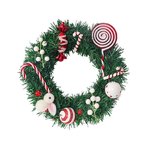 vdn Djvn Wreaths And Garlands 1 Piece Artificial Foam Christmas Garland With Candy Bunny Door Home Decorations Ornaments Wreath Christmas Colorful 30cm 40cm 50cm Available