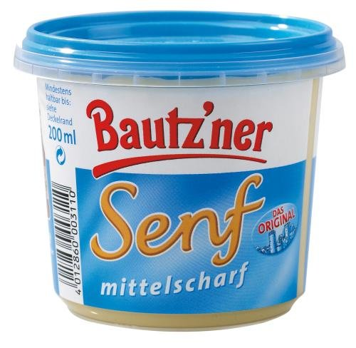 Bautzner Bautz'ner Senf mittelscharf - Bio, 200 ml Becher