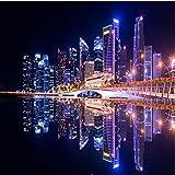 Vista Nocturna de Singapur Personalizado Rompecabezas de 1000 Piezas Rompecabezas de Madera Hermosa Ciudad Paisaje Rompecabezas
