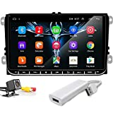 PolarLander 9'Android Car Radio GPS Navigation Stereo Multimedia Player WiFi Bluetooth con USB Dongle para Android Auto iOS para V/W S/Koda Golf 5 Golf 6 Polo Passat B5 B6 Jetta TIGUAN