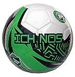 Ichnos Snazzer Club Junior Fußball Ball Kinder (weiß, grün, große 3 (Alter 6-9))