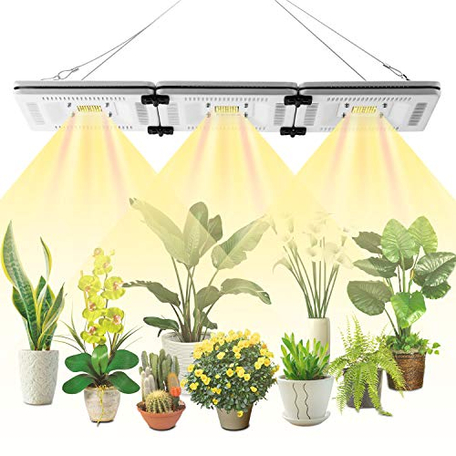 FECiDA 150W LED Grow Light Sunlike Full Spectrum for Grow Tent, 750W HPS Grow Lights Equivalent, Waterproof and Silent Plant Grow Light for Seedlings, Growing, Flowering, Fruiting