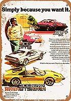 2個 8 x 12 cm メタルサイン - 1978 フェラーリ 308 メタルプレート レトロ アメリカン ブリキ 看板