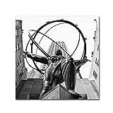 Atlas Rockefeller Center by CATeyes, 24x24-Inch Canvas Wall Art