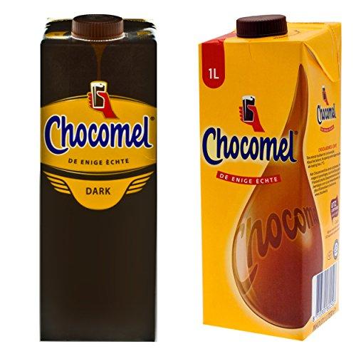 Chocomel Kakao Dark Choco Kakao Karton, 2 Sorten, Trinkschokolade, Holland Schoko, Dunkle Trink Schokolade, 1 L