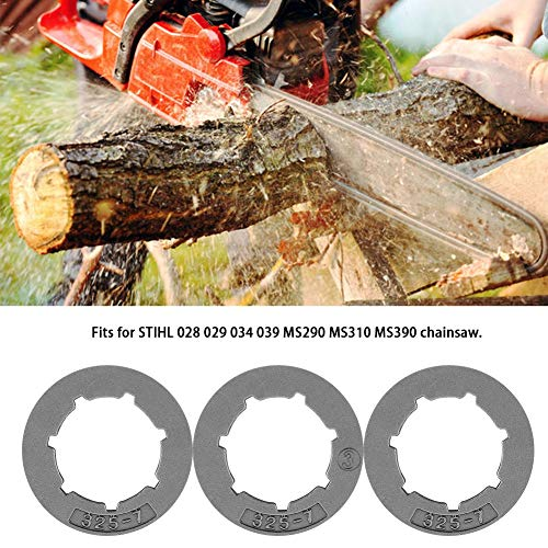 Yencoly .325-7Tooth Small Sprocket Rim for STIHL 028 029 034 039 MS290 MS310 MS390 Scies, 3PCS .325-7Tooth Small Sprocket Rim for STIHL 028 029 034 039 MS290 MS310 MS390 Saws Accessoires de