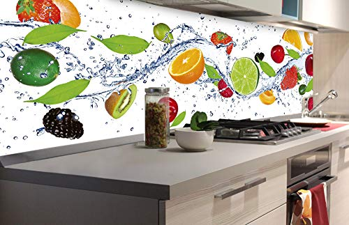 DIMEX LINE Küchenrückwand Folie selbstklebend Obst | Klebefolie - Dekofolie - Spritzschutz für Küche | Premium QUALITÄT - Made in EU | 180 x 60 cm