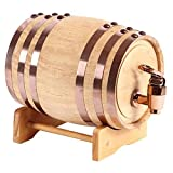 XWX Barriles De Roble Envejecido Hecho A Mano Whisky Bourbon Cerveza Vino Tequila Ron Vino Barriles (Size : 5l)