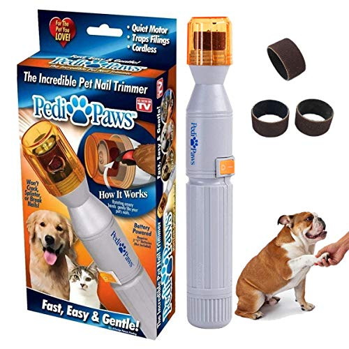 Ransy Pedi Paws Dog Nail Grinder, Upgraded Version Professional Electric Pet Nail Grinder Trimmer Grooming Tools, Grooming Care Grinder Electric Grooming Trimmer Clipper Drill Nail