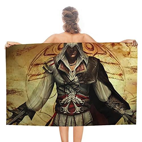 Assassin's Creed - Toallas de baño de doble cara, 80 x 130 cm, toalla de playa, toallas deportivas grandes, accesorios de camping