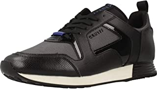 Cruyff Men's Lusso Leather Trainers, Black