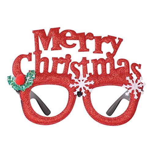 Xniral Brille Rahmen Niedlichen Cartoon Weihnachtsbrille Cartoon Verkleiden Kreative Brille Rahmen(Q)