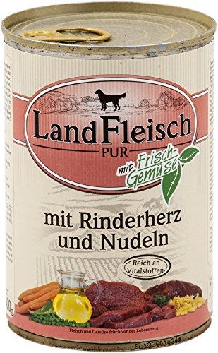 LandFleisch | Pur Rinderherz & Nudeln | 12 x 400 g